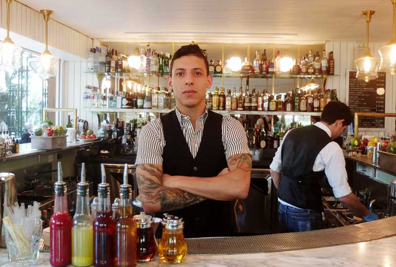 Barman Gabriel Lowe of the Black Bear.