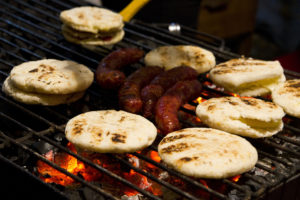 Arepas on the streets of Bogotá