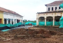 Mompós plaza being restored