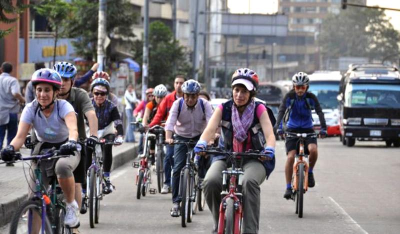 Bikers in Bogotá by Carlos Felipe Pardo