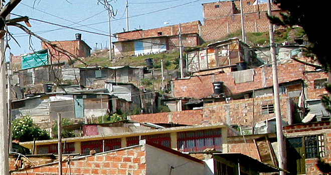 Cazuca neighborhood in Bogotá