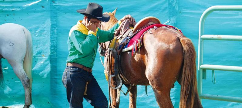 Llanero participant in a rodeo in Villavicencio, Colombia