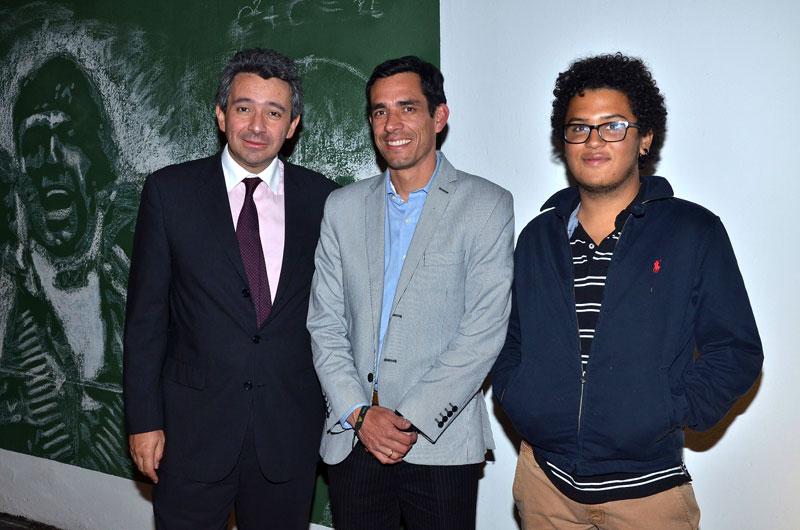 Enrique Gomez, Carlos Salazar, Isaac Mateus