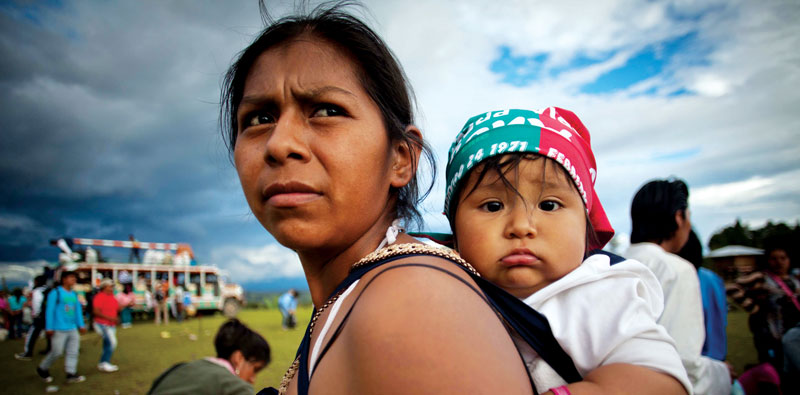 Indigenous communities in Cauca barter for goods. By Federico Rios