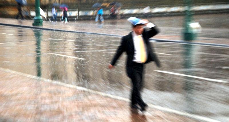 A rainy day in downtown Bogotá by Oisin Prendiville