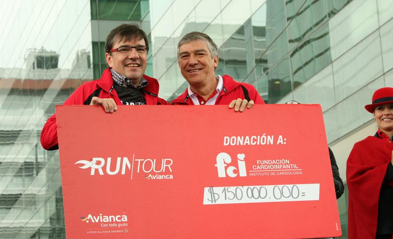 Dr. Santiago Cabrera, Director Ejecutivo Fundación Cardioinfantil, Fabio Villegas, Presidente Avianca