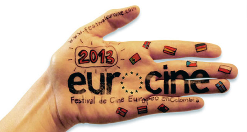 The official poster for the Eurocine 2013 Festival in Colombia