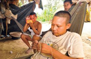 Displaced Nukak Makú people