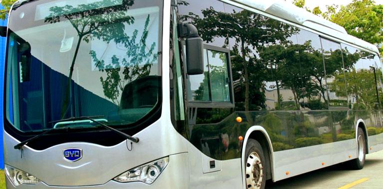 Ebus electric buses in Bogotá