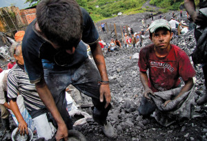 Mining operations are often informal and dangerous for workers, who spend days in poor conditions.