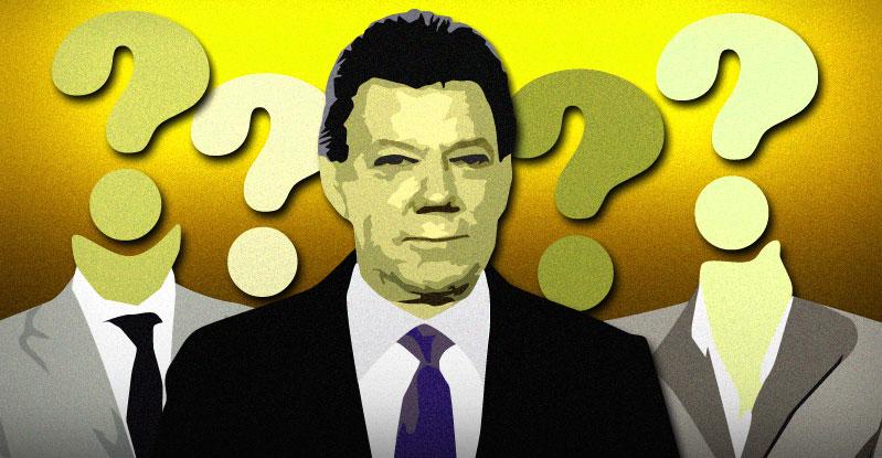Juan Manuel Santos and his cabinet