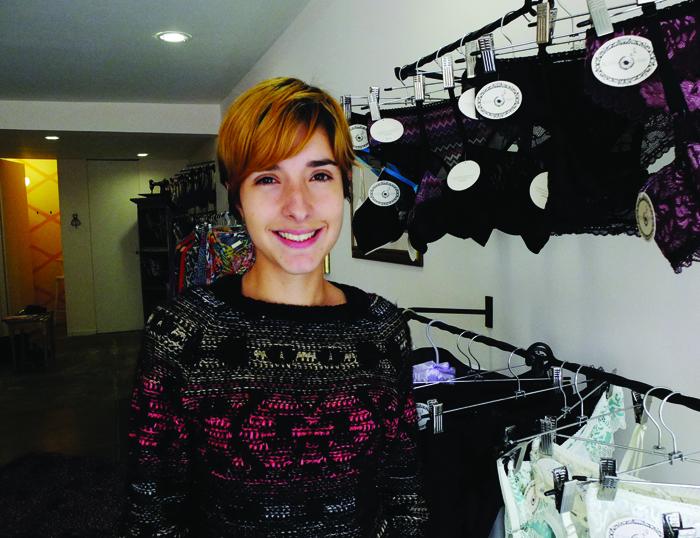 María Pardo in her lingerie boutique in Bogotá