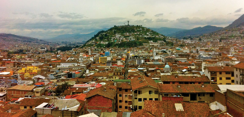 Ecuador's capital offers visitors breathtaking views of the Andes and the chance to explore colonial markets