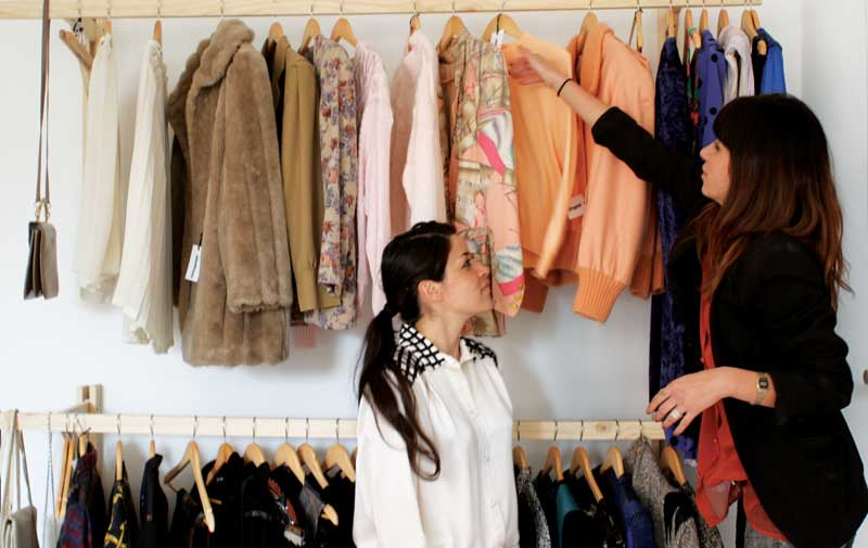Two sisters turned entrepreneurs turn vintage clothing into affordable fashion.
