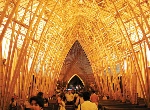 Simon Vélez constructed a cathedral in Pereira from bamboo.
