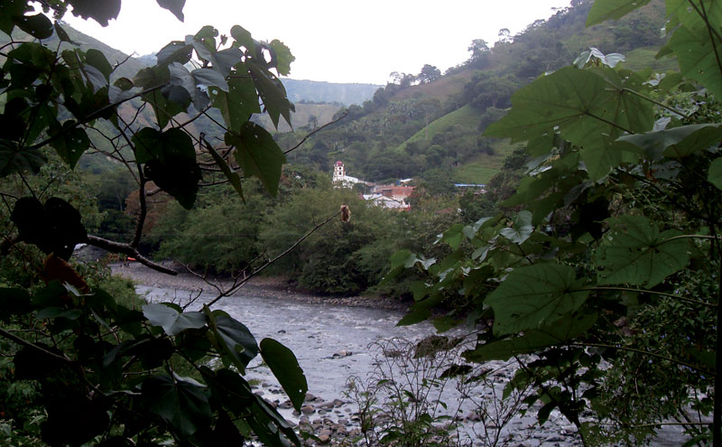 Race the river Negro near the sugarcane producing town of Tobia in the foothills of Cundinamarca