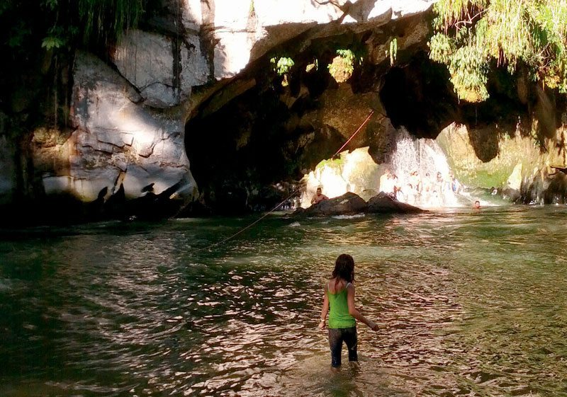 Rio Claro offers caving and water activities near Medellin.