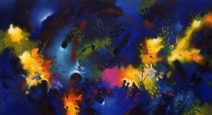 Jacanamijoy paints with a vibrant palatte.
