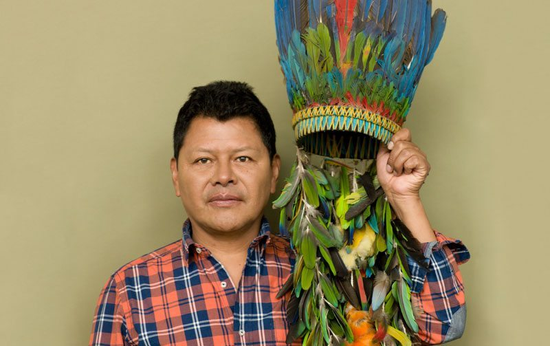 Colombian painter Carlos Jacanamijoy searches for identity in his recent work.