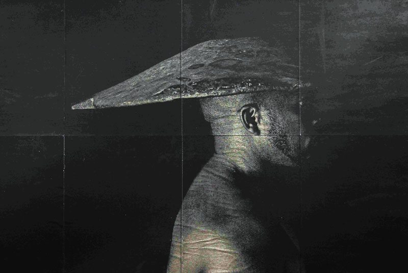 Artist Eduardo Moreno works with coal.