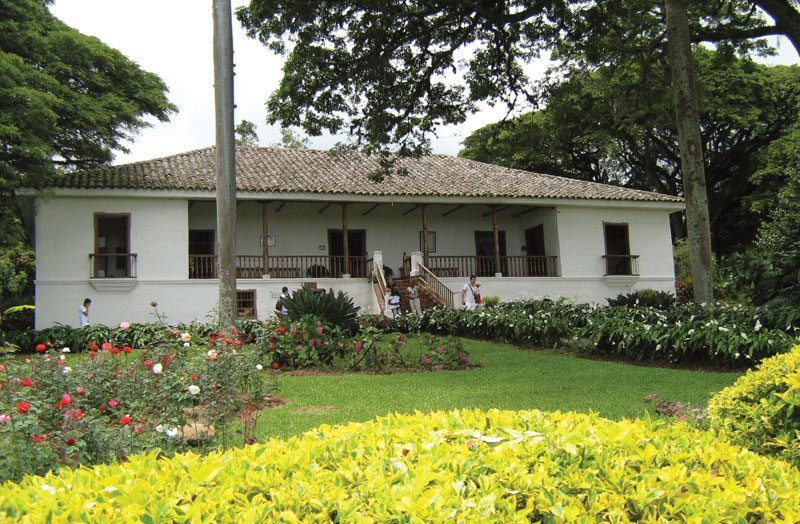 The hacienda of 'La María' in Paraiso, Valle de Cauca.