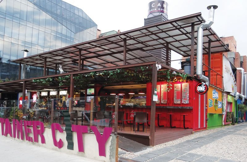 A food court in Bogotá with a reusable purpose.