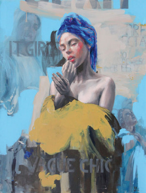 Artist Rossina Bossio paints women in intimate settings.