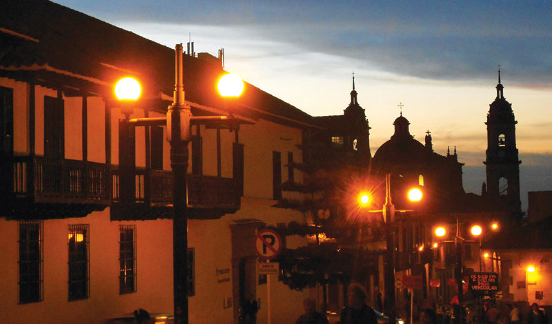La Candelaria at sundown.