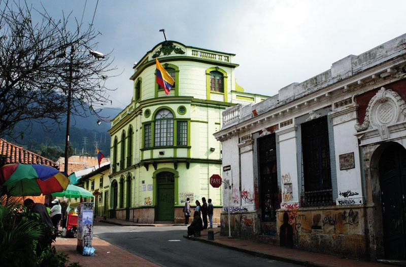 One of Bogotá's most colorful neighborhood.
