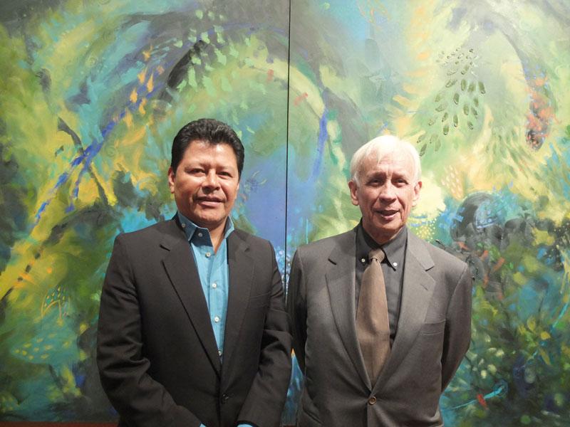 Colombians carlos Jacanamijoy and Rodolfo Llinas.