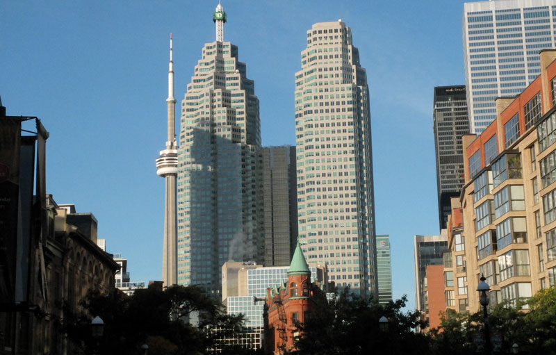 View of downtown Toronto.