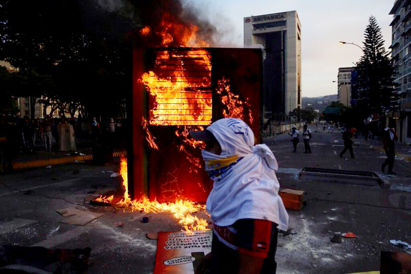 Photo by Girish Gupta of anti-government protests in Altamira, Caracas.