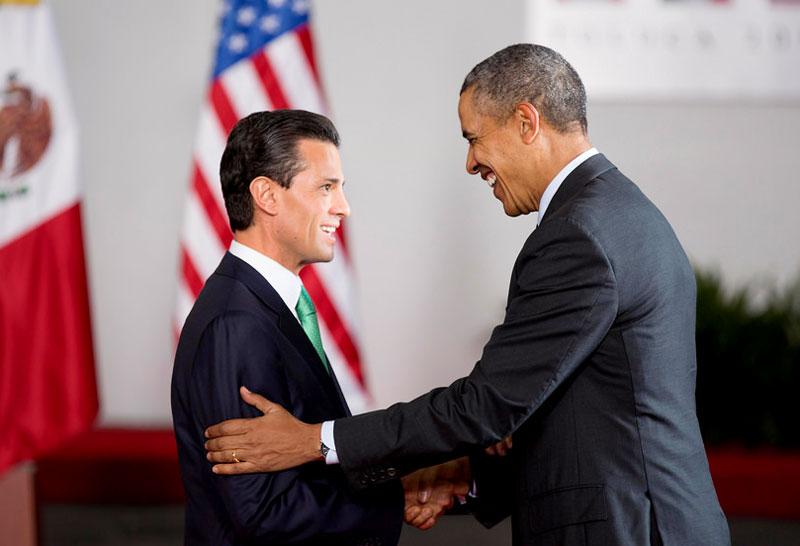 Enrique Peña Nieto and Obama meet in Washington.