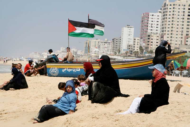 Palestinians in Gaza for The Mark News.