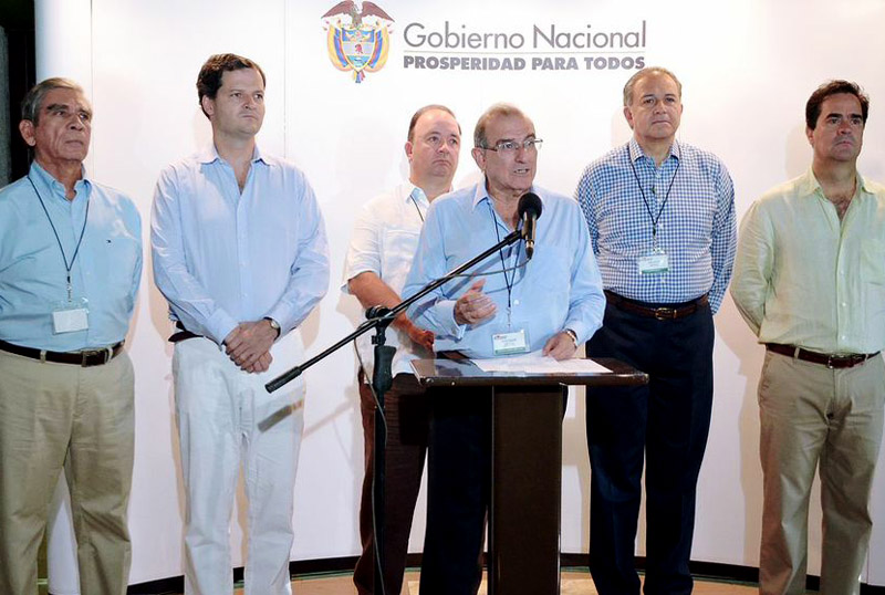 The Colombian negotiating team in Havana, Cuba.