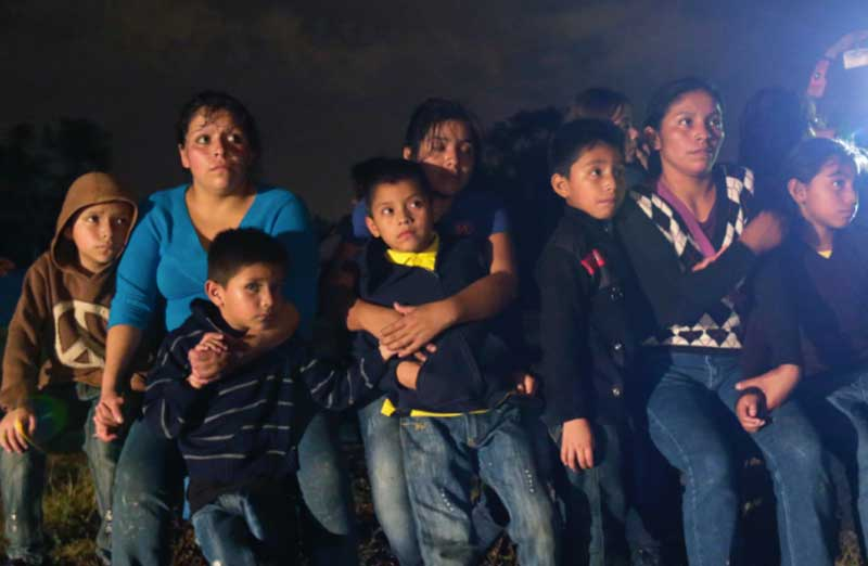 Central American immigrants head to the southern US.