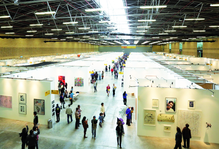 Overview of the 2013 ARTBO pavilion.
