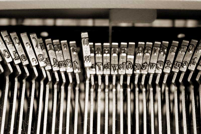 File photo of typewriter.