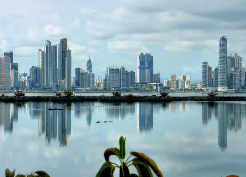 Skyline of Panama City.