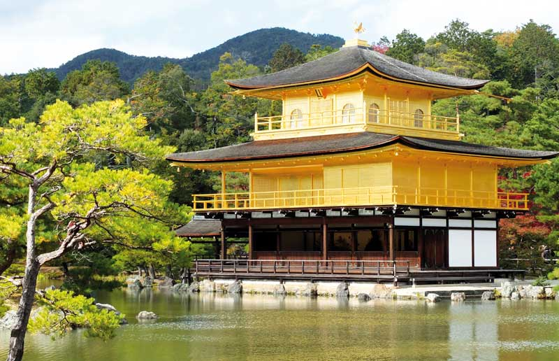 The golden pavilion in Kyoto.