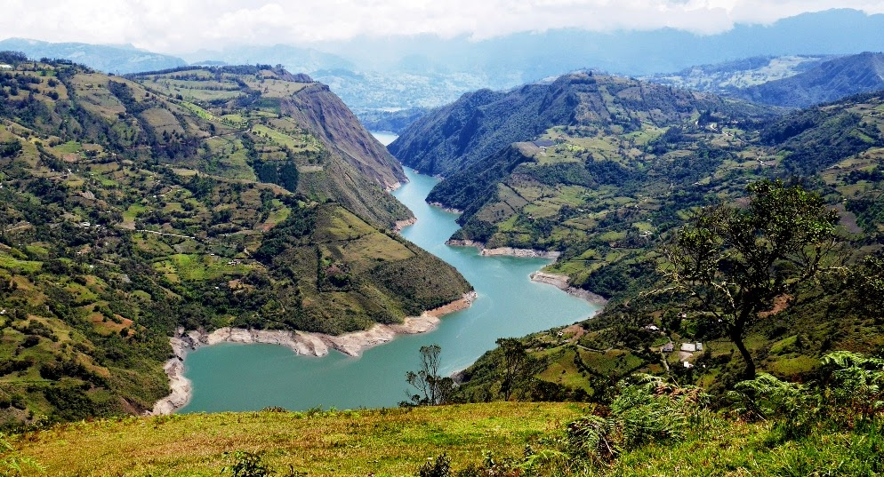 The Guavio reservoir in Cundinamarca.