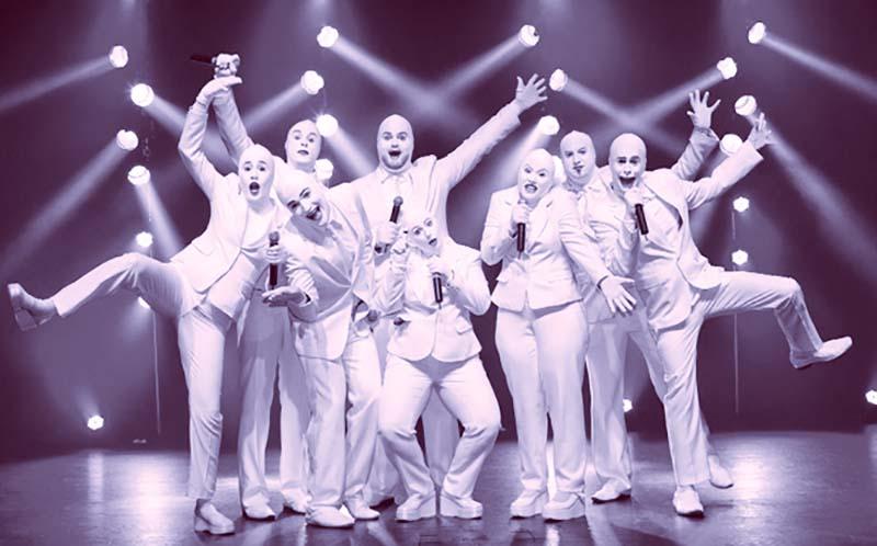 The Israeli a cappella troupe Voca People.