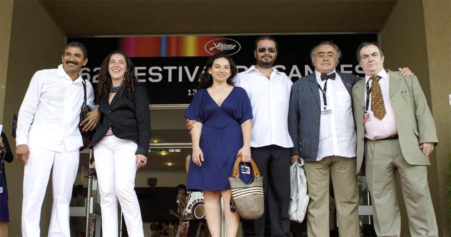 Cast and Crew of Los Viajes del Viento at Cannes
