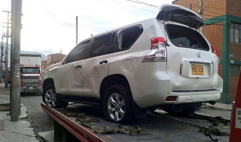 Uber attack in Bogotá