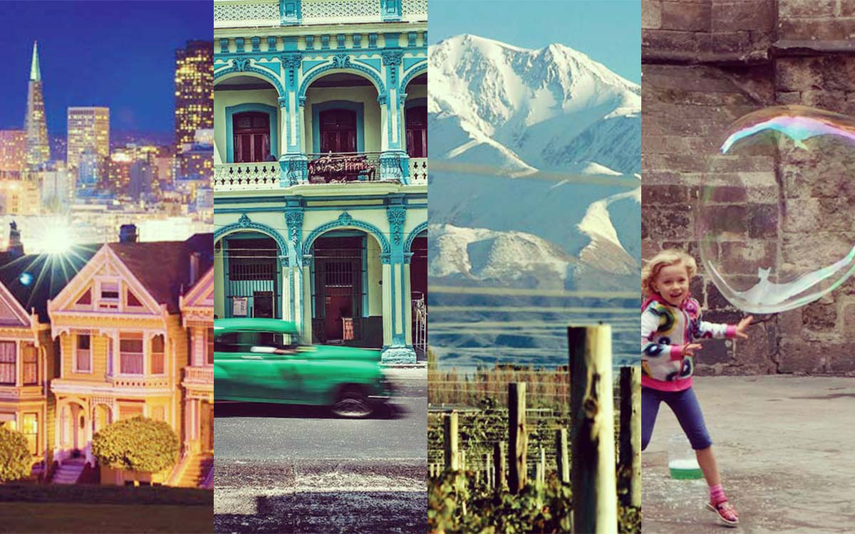 Four travel destinations