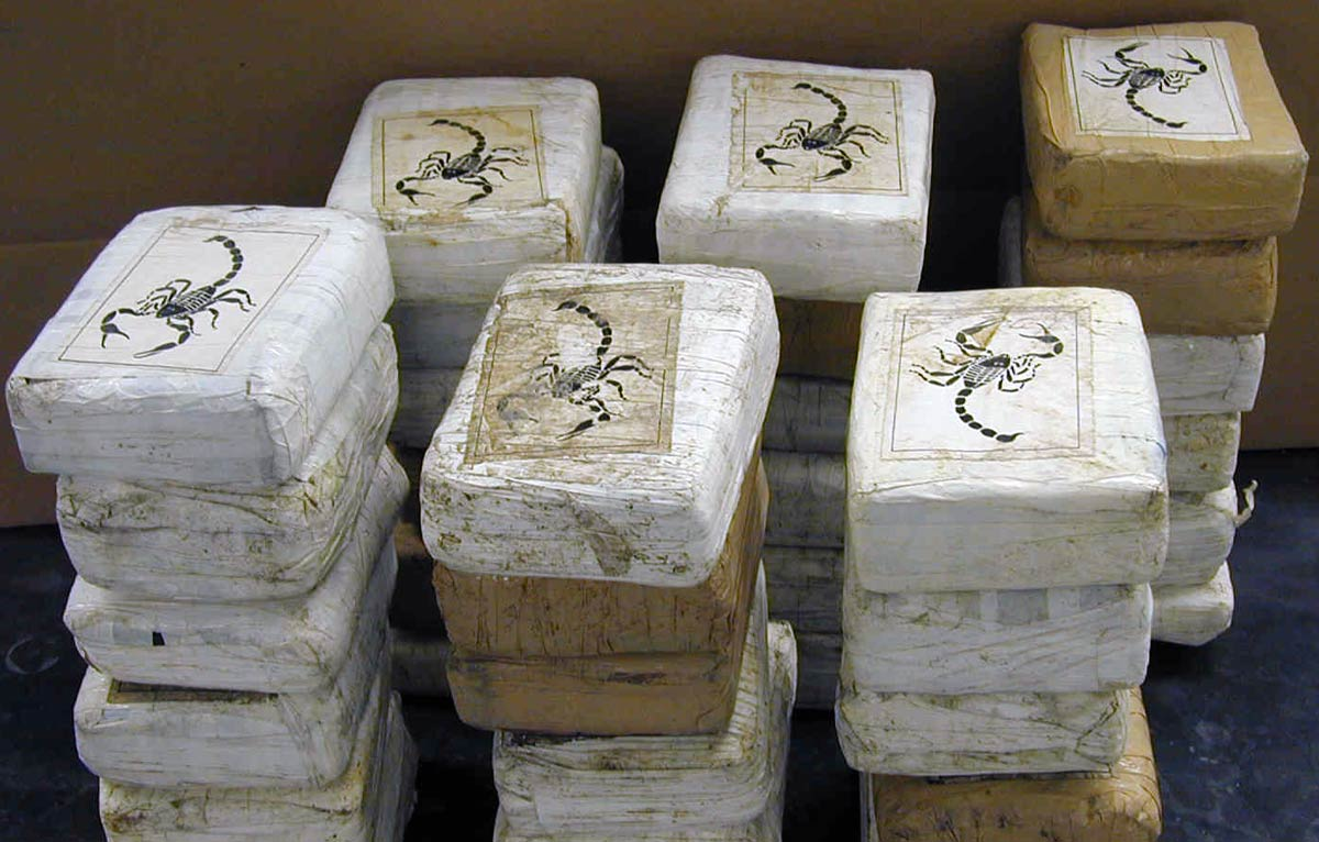 Drugs captured in Colombia