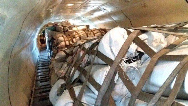 Colombian supplies sent to Ecuador