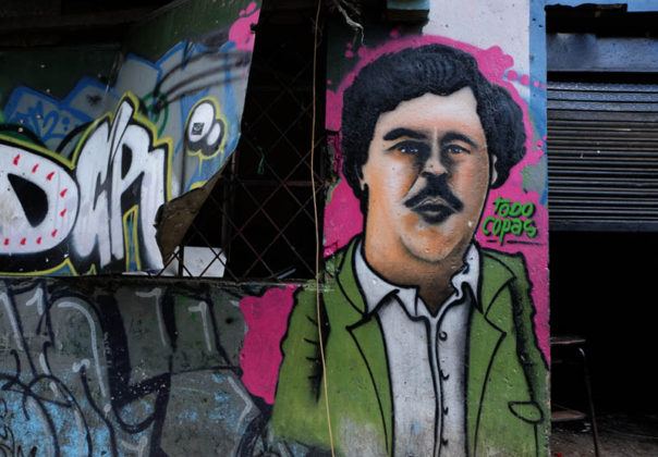 Even drug lord Pablo Escobar had his face on the walls of El Bronx.
