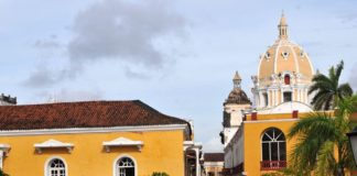 A sunset walk along the ramparts of Cartagena's walled city.