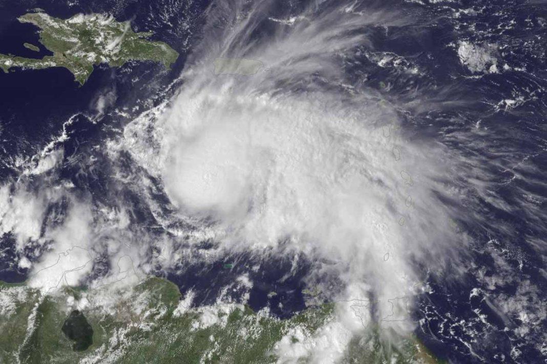 Hurricane Matthew churns in the south Caribbean on Thursday